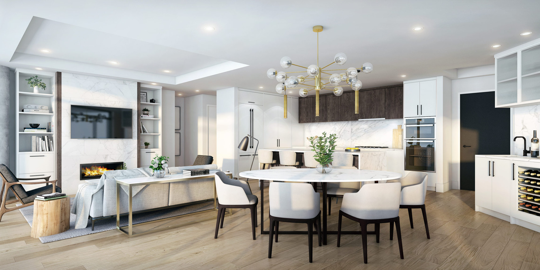 Vision | Great Room, Dining Room, Kitchen