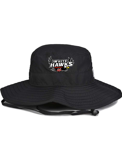 WhiteHawks Black Bucket Hat