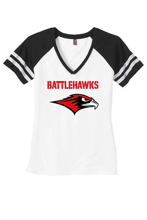 BattleHawks- Ladies Game V-Neck TShirt