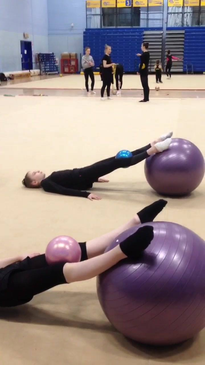 Students of Bath Rhythmic Gymnastic Team working very hard on their core strength . . well done girls. . keep up the good work 🙂
