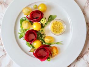 Vegan Beetroot Rose Salad (onions and garlic free)