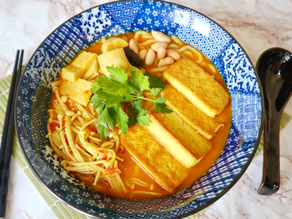 Curry laksa noodles (onions and garlic free)