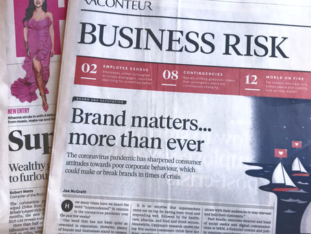 Sunday Times article 'Brand matters... more than ever'