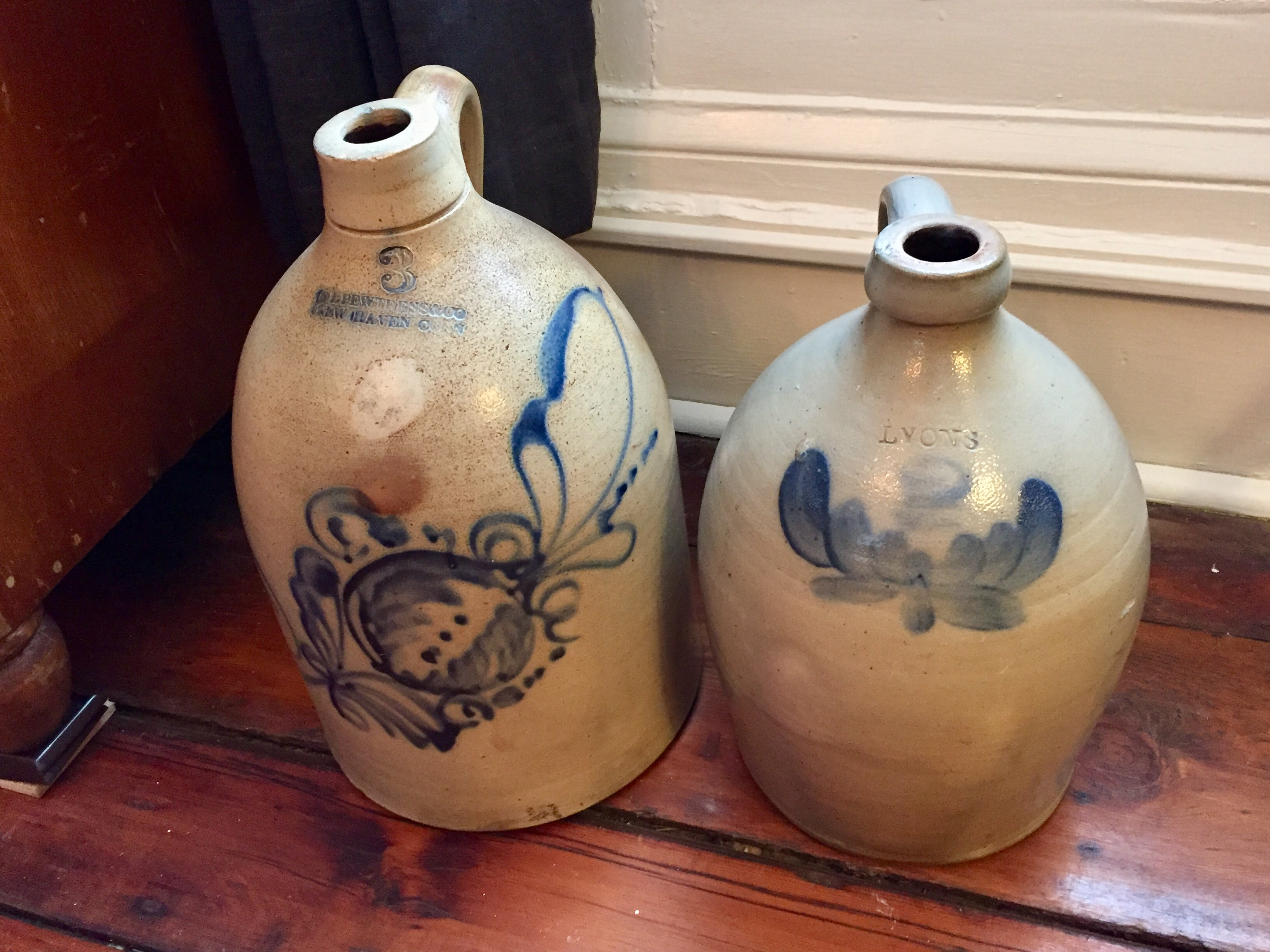 jugs with blue