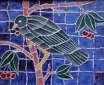 'Blackbird in the Cherries'