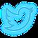 Twitter Logo in Neon