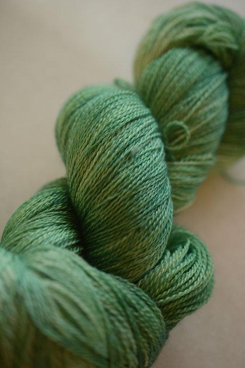 Mistletoe on Silky Lace