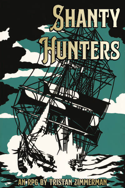 Shanty Hunters cover. A ship sails towards the viewer.