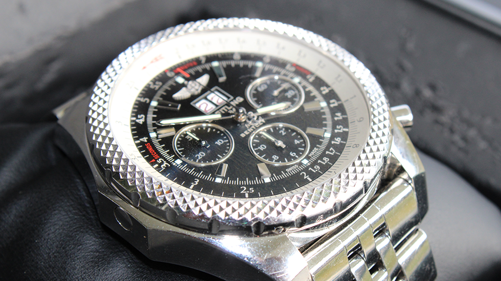 """Breitling for Bentley 6.75 """"Big Date"""" 49 mm Ref#: A4436412 Black Dial"""