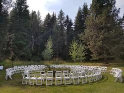 Twin Creeks Farm Circle ceremony