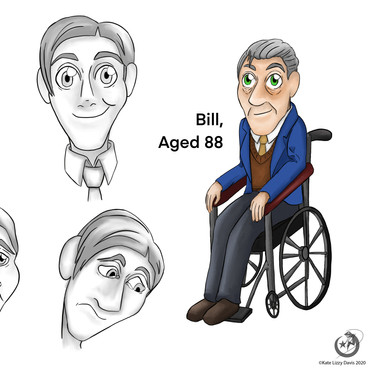 Bill, Character Concept Art for 'The Lives of Todd', Procreate, 2020