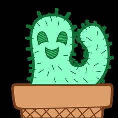 Cactus Twitch Emote, Illustrator, 2021