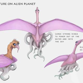 Lawris Creature on Alien Planet, Creature Concept Design, Procreate, 2020
