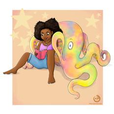 Octopus Dreams, Illustration, Procreate, 2021