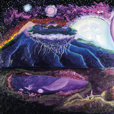 12 Moons Aligning, Panel 1, Oil Paint on Canvas, 2018