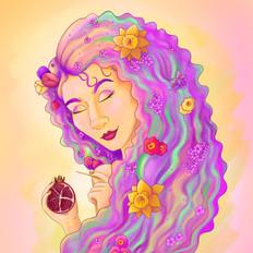 Persephone, Illustration, Procreate, 2021