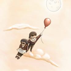 To The Moon, Illustration, Procreate, 2020