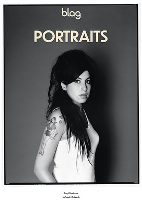 Limited Edition BLAG Portraits Poster: Amy Winehouse B&W
