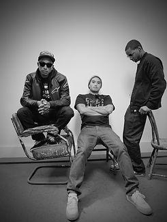 N*E*R*D Pharrell Williams, Chad Hugo and Shae Haley for BLAG magazine Photography by Sarah J. Edwards