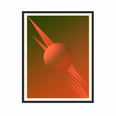 Limited Edition Out Of This World 4, Framed Print Large