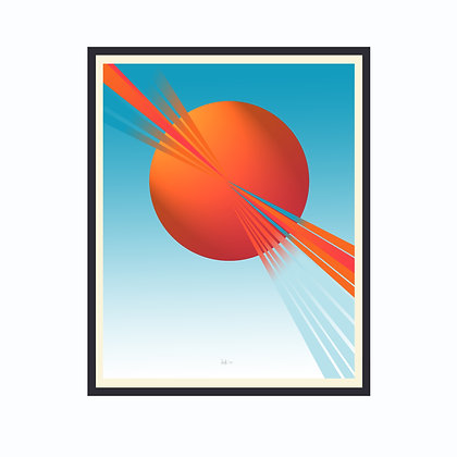 Limited Edition Out Of This World 1, Framed Print Medium