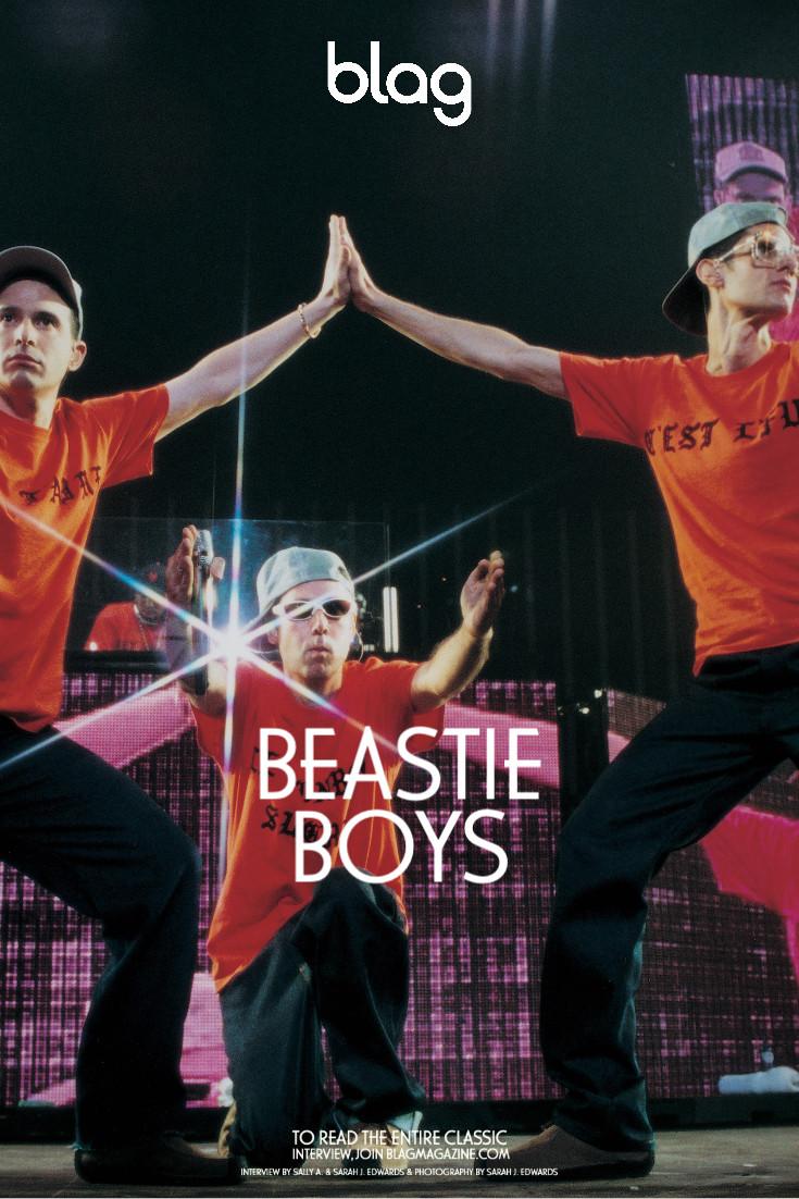 Beastie Boys pose live on stage