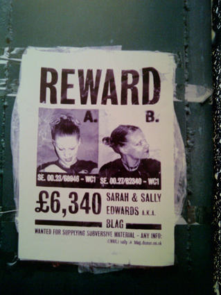 BLAG V1N8 Reward Poster 1995