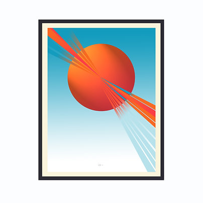 Limited Edition Out Of This World 1, Framed Print Large