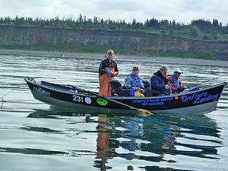 Drift Boat Halibut Fishing