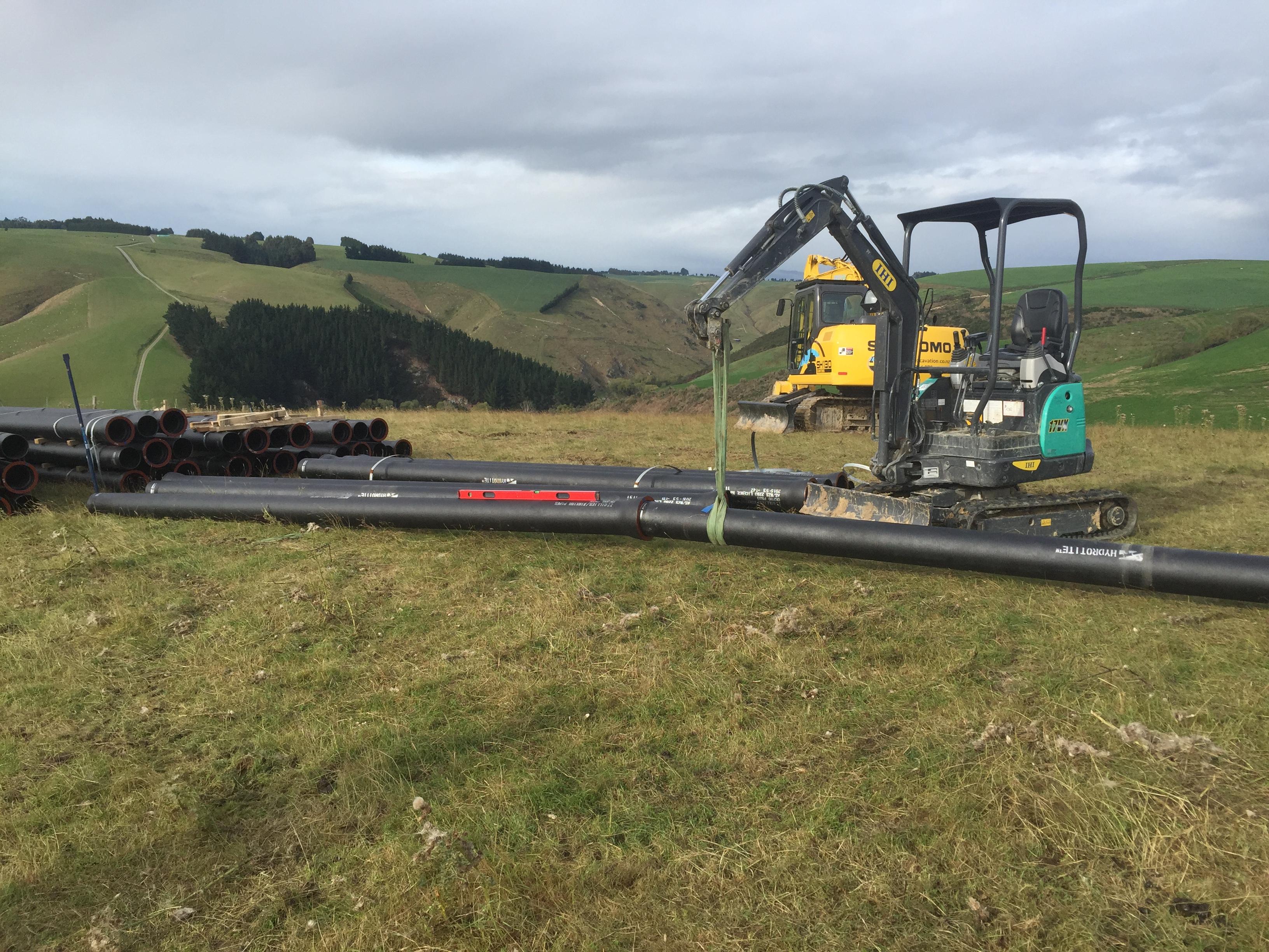 Testing maximum deflection of Ductile iron pipes