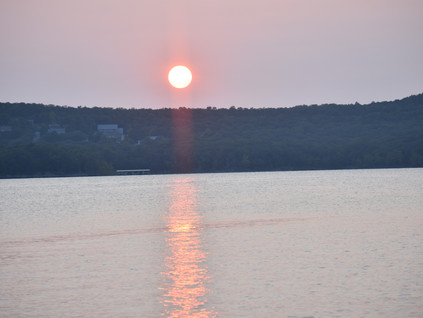 Romancing with self-love And Sunset at Table Rock State Park Branson Mo.