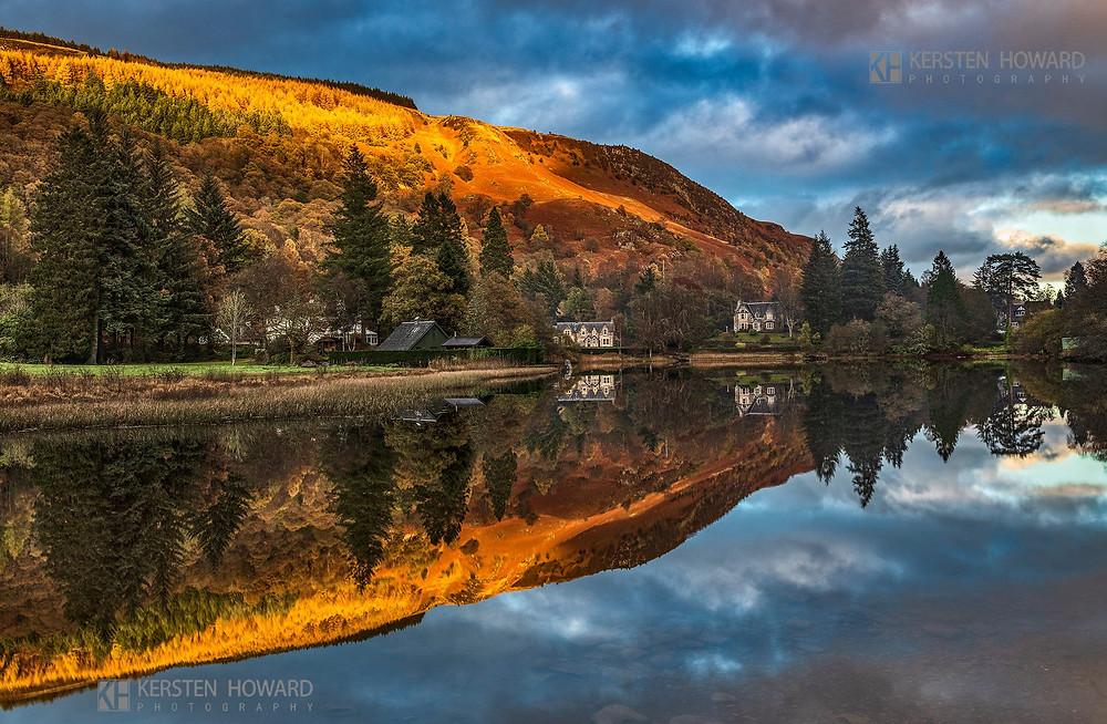 Kersten Howard – The Milton Basin, Loch Ard | Nikon D850, Nikkor 24-70mm @ 29mm, ISO 64, f14 @ 1 second. Kase polariser & Kase Wolverine 0.9 soft grad