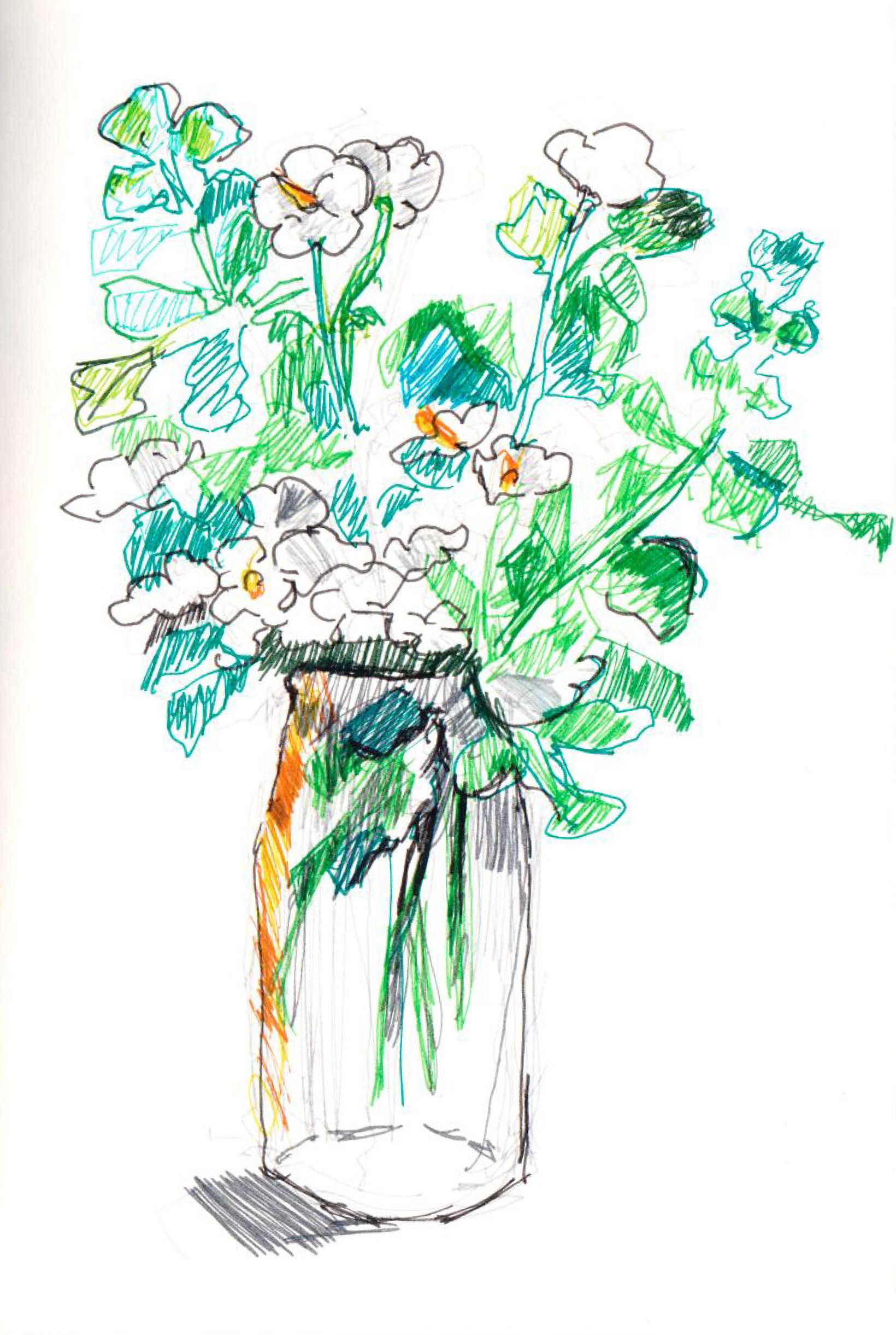 Flowers Sketch - 1