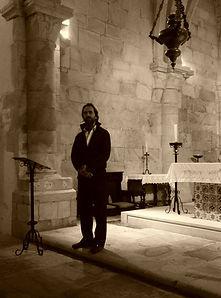 """Miguel Boim, O Caminheiro de Sintra, no evento """"Uma Noite em Santa Maria, 500 anos de Teresa de Ávila"""""""