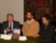 Miguel Boim, O Caminheiro de Sintra, com o Presidente da Câmara Municipal de Sintra, Basílio Horta; lançamento do livro Sintra Lendária no Grémio Literário.