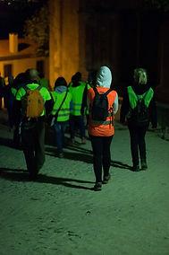 A passar pela Igrej de Santa Maria de Sintra numa caminhada nocturna de Miguel Boim, O Caminheiro de Sintra
