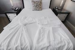 couples hotel bathrobes holiday