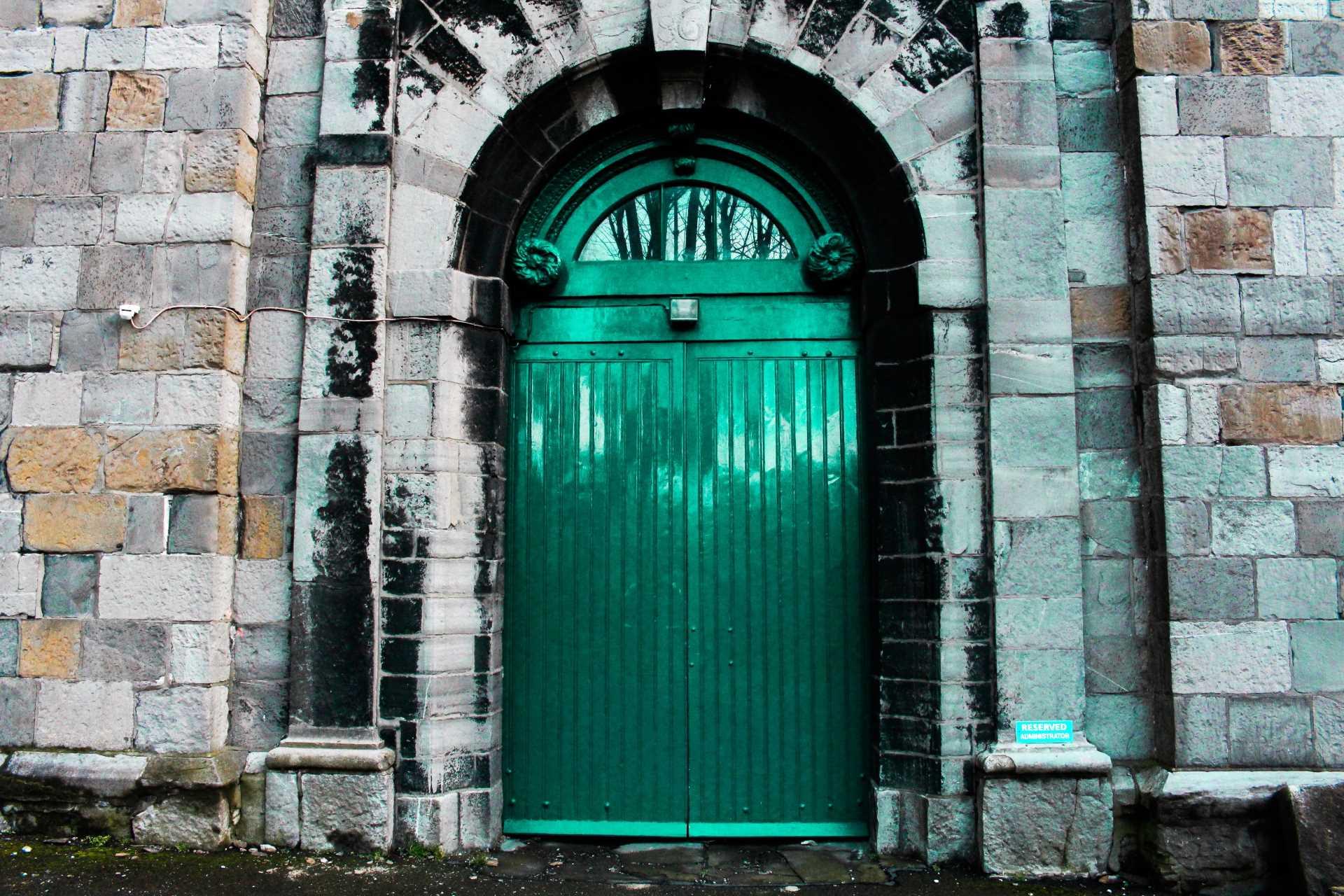 Green Castle Door Explore