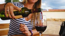 pouring red wine sonoma napa