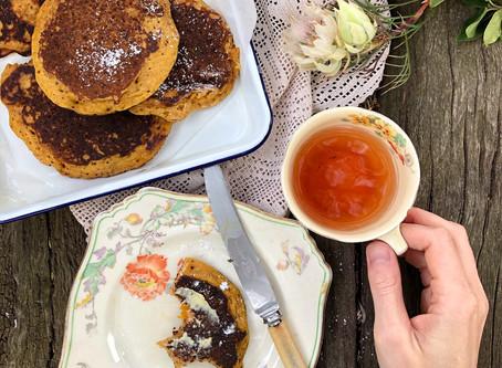 Spiced Pumpkin Sourdough Pancakes