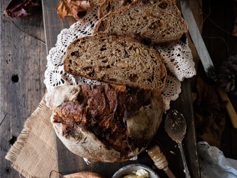 Spiced Fig & Walnut Bread
