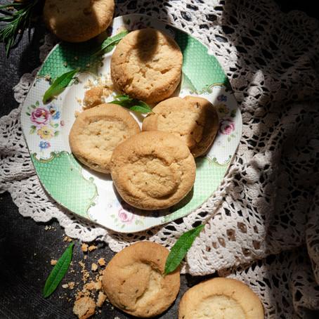 Rosemary, Lemon Verbena & Almond Shortbread (gluten free)