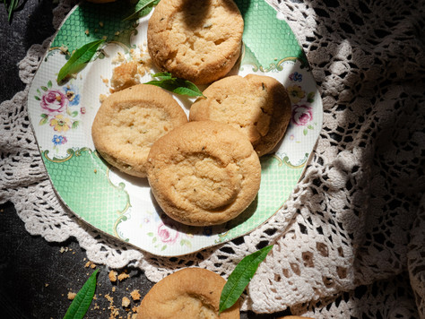 Rosemary, Lemon Verbena & Almond Shortbread (gluten free)
