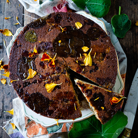 Lime, Nasturtium & Poppyseed Syrup Cake