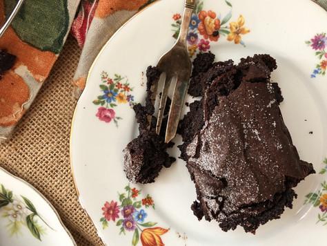 Dark chocolate brownie with red wine