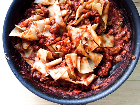 Sausage Ragu with Fresh Pappardelle