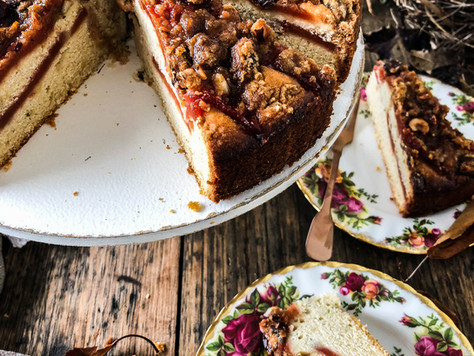 Quince & Lemon Thyme Crumble Cake