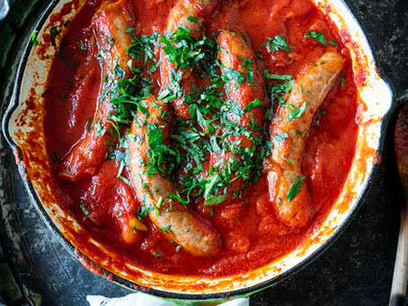 Sausages with Tomatoes & Capsicums