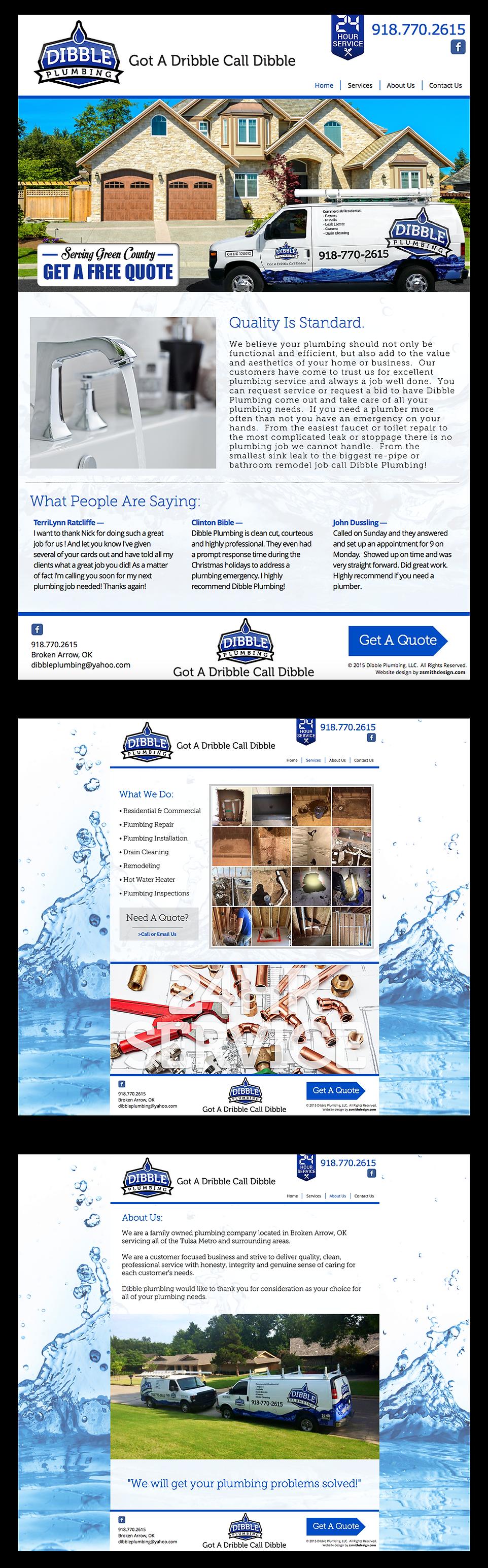 Website design for dibbleplumbing.com