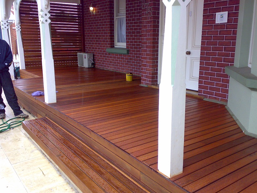 Front porch deck